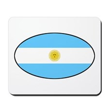 Argentina Oval Flag Mousepad