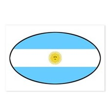 Argentina Oval Flag Postcards (Package of 8)