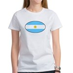 Argentina Oval Flag Women's T-Shirt