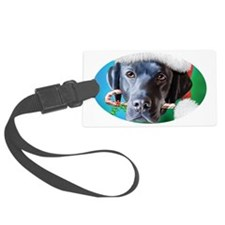 Black Lab Santa-ceramic mug Luggage Tag