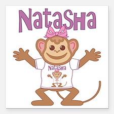 "natasha-g-monkey Square Car Magnet 3"" x 3"""