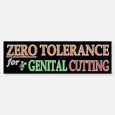 Zero Tolerance bumpersticker
