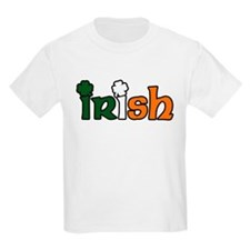 Irish Tri-color with Shamrocks Kids T-Shirt