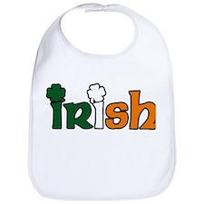 Irish Tri-color with Shamrocks Bib