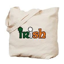 Irish Tri-color with Shamrocks Tote Bag