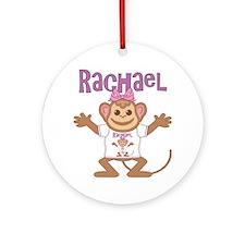 rachael-g-monkey Round Ornament