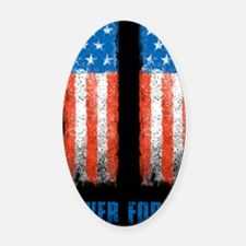 911_NEVERFORGET_10X14 Oval Car Magnet