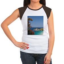Pohutukawa Tree in Bloo Women's Cap Sleeve T-Shirt