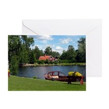 SundbornLake-longer4 Greeting Card