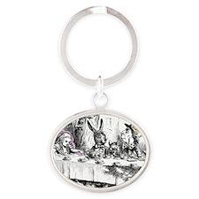 AliceTea Oval Keychain