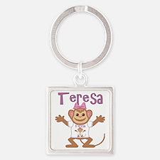 teresa-g-monkey Square Keychain