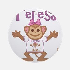 teresa-g-monkey Round Ornament