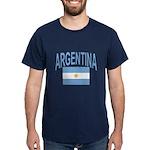 Argentina Oval Flag Dark T-Shirt