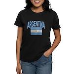 Argentina Oval Flag Women's Dark T-Shirt