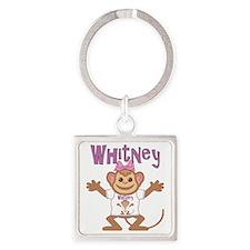 whitney-g-monkey Square Keychain