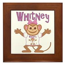 whitney-g-monkey Framed Tile