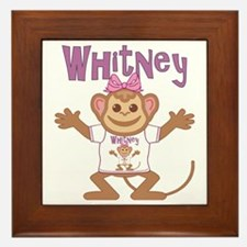whitney-g-monkey Framed Tile