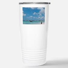 Beach at Barbados Yacht Club, B Travel Mug