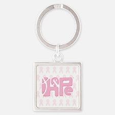 05_HopeRibbon_BG01a Square Keychain