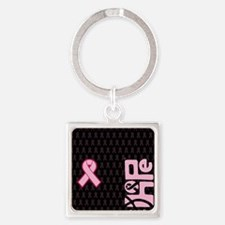 FlipFlops_HopeRibbon_BG03a Square Keychain