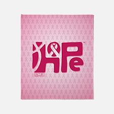 kindle_HopeRibbon_BG02b Throw Blanket