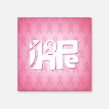 """05_HopeRibbon_BG02a Square Sticker 3"""" x 3"""""""