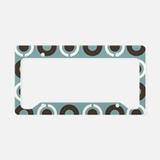 tealbrowntoiletry License Plate Holder