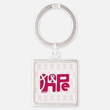 05_HopeRibbon_BG01b Square Keychain