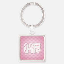18x13_HopeRibbon_BG02a Square Keychain