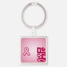 FlipFlops_HopeRibbon_BG02b Square Keychain