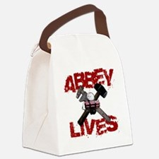 abbey_lives_white Canvas Lunch Bag