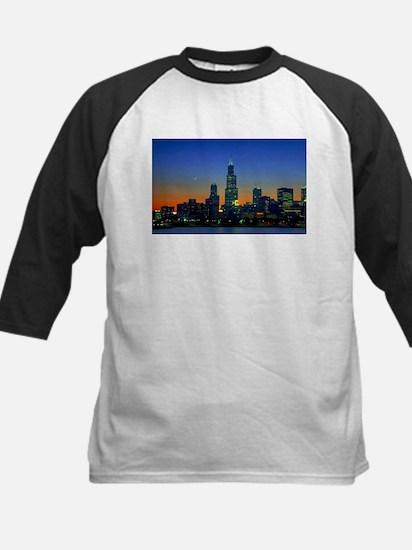 Chicago Framed In Sunset Kids Baseball Jersey