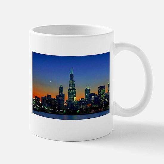 Chicago Framed In Sunset Mug