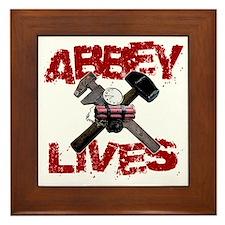 abbey_lives_black Framed Tile