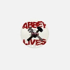 abbey_lives_black Mini Button