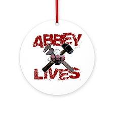 abbey_lives_black Round Ornament