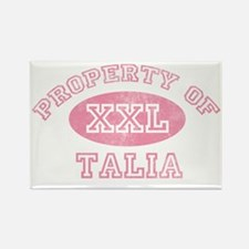 Property-of-Talia Rectangle Magnet