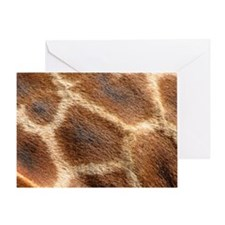 GiraffePatternMensWallet Greeting Card