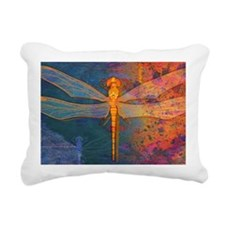 shoulderFlamingDragonfly Rectangular Canvas Pillow
