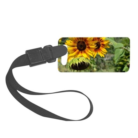 Sunflowers in Summer Small Luggage Tag