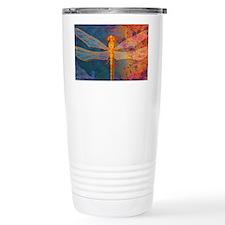 clutchFlamingDragonfly Travel Coffee Mug