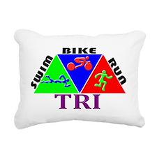 InkTRI3Triangles2 Rectangular Canvas Pillow