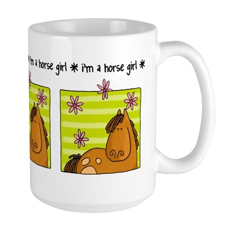 horse girl Large Mug