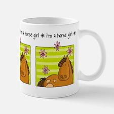 horse girl Small Mugs