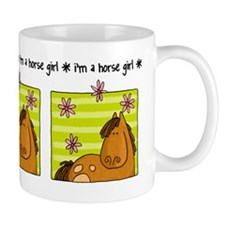 horse girl Small Mugs