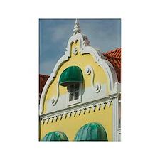 ABC Islands, ARUBA, Oranjestad: D Rectangle Magnet