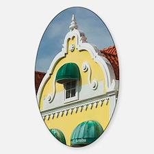 ABC Islands, ARUBA, Oranjestad: Dow Sticker (Oval)