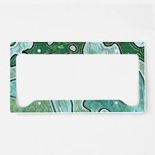 Mint Green Camo License Plate Holder