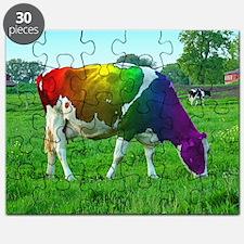 rainbow-cow_13-5x13-5 Puzzle