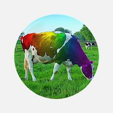 """rainbow-cow_13-5x13-5 3.5"""" Button"""